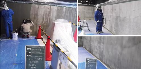 劣化コンクリート改質材補修工法