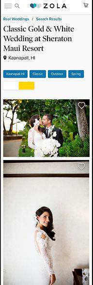 Maui beach front wedding
