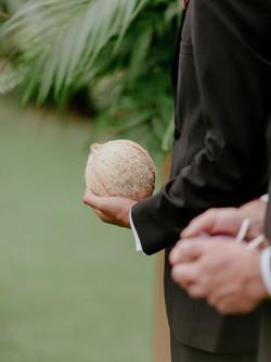 Maui coconut ceremony