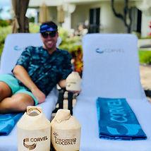 Maui coconuts poolside