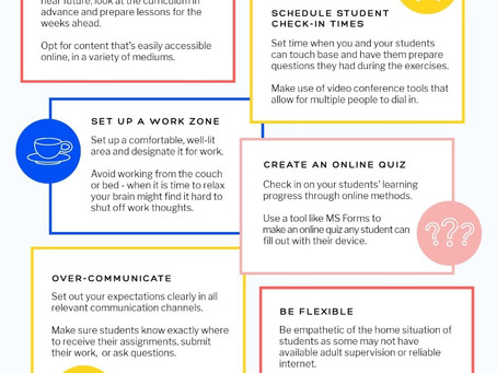 For Teachers: Tips for Online Teaching