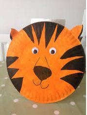 DIY :Paper Plate Tiger