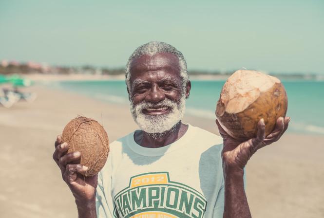 Dominican Coconut seller