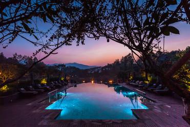 Sunset at main pool