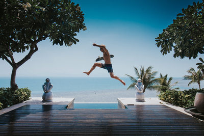 Jump over pool