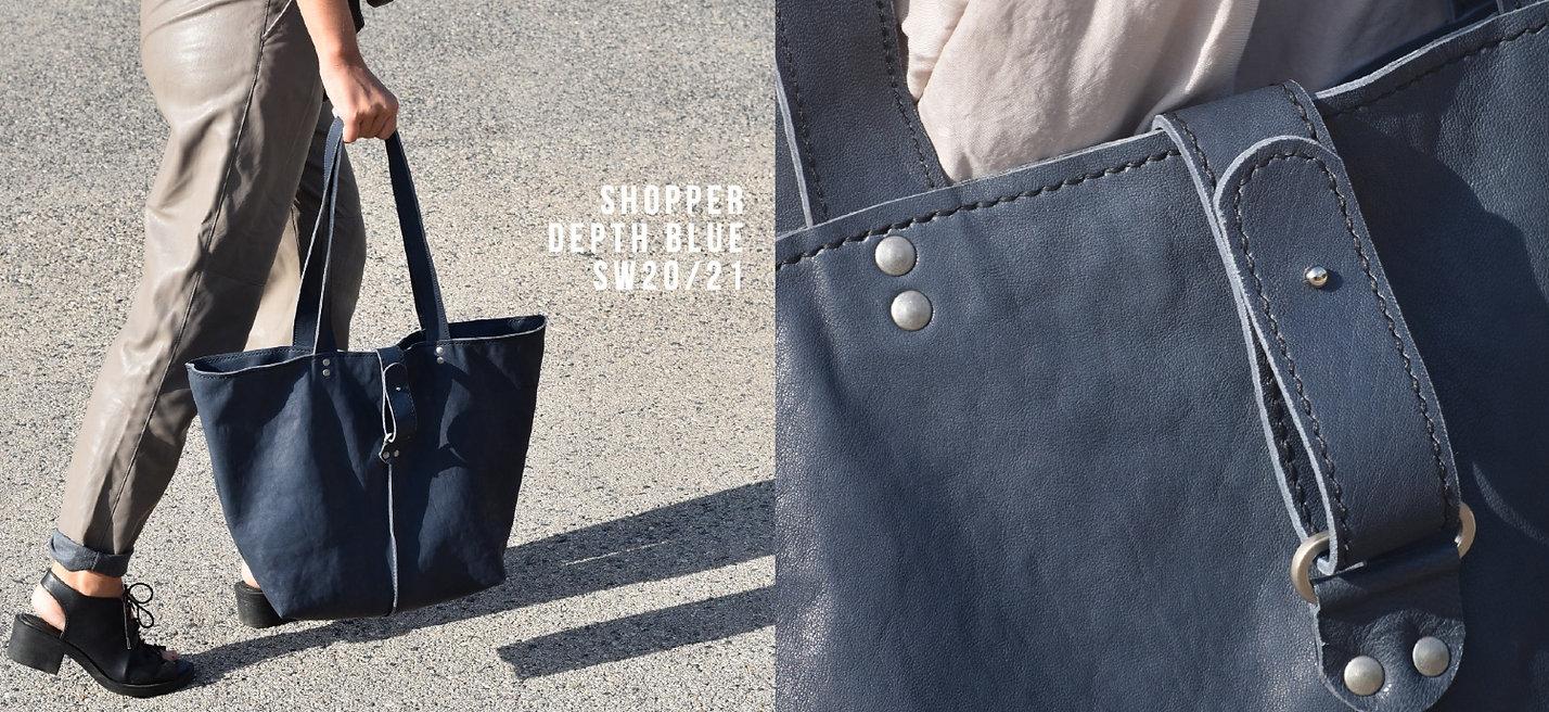 Huemul leather shopper. Bolso de piel hecho a mano en nuestro taller con cuero de alta calidad.