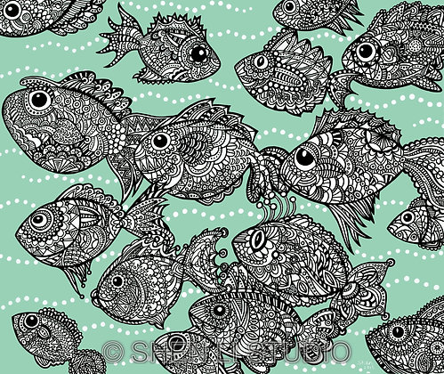 Fishes print (2 sizes)