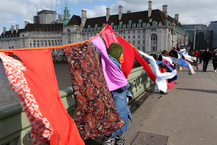 Yarlswood Activists on Westminster Bridge