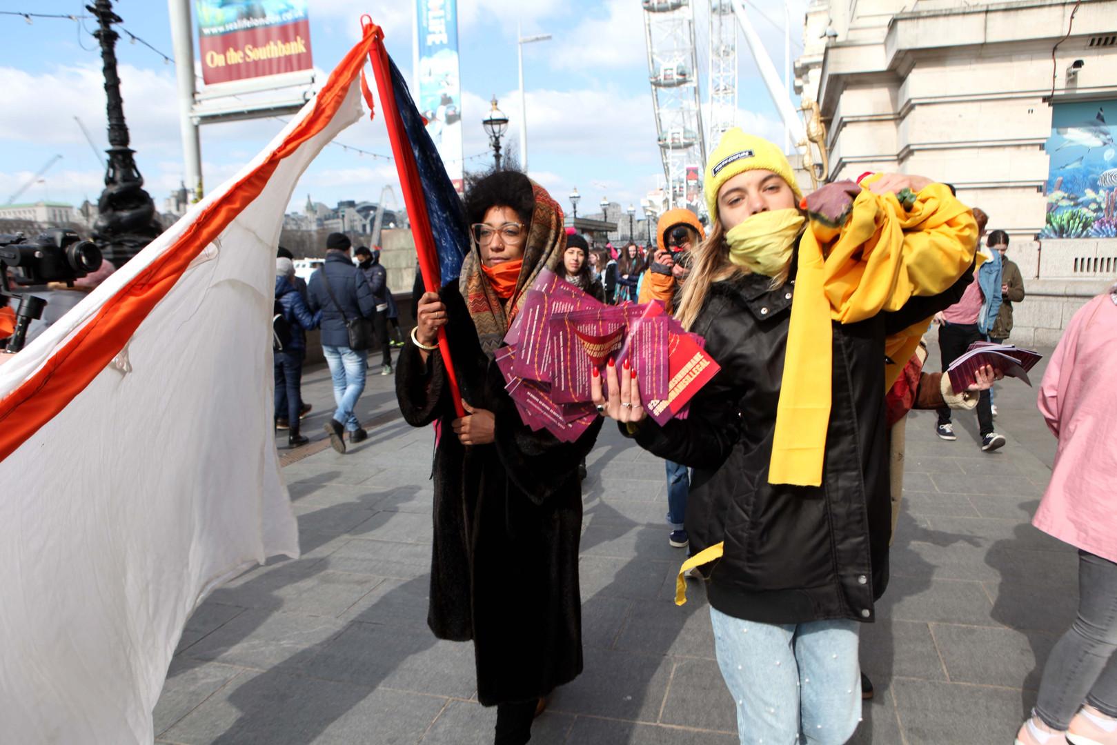 Yarlswood Activists on Westminster Bridge