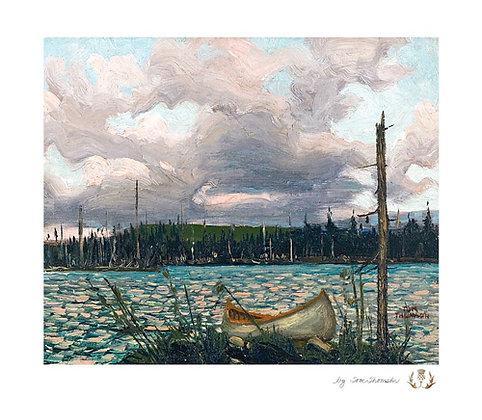 Canoe and Lake