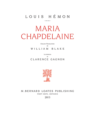 Title Page - Maria Chapdelaine