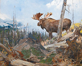 Northern Wilderness by Carl Rungius