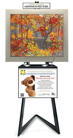 Our Silent Auction Easel