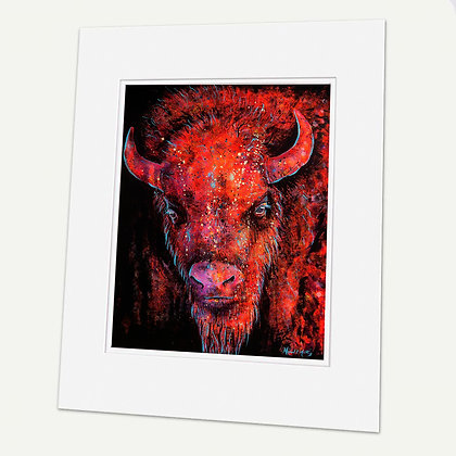 """Bison"" Signed matted Giclée Print"