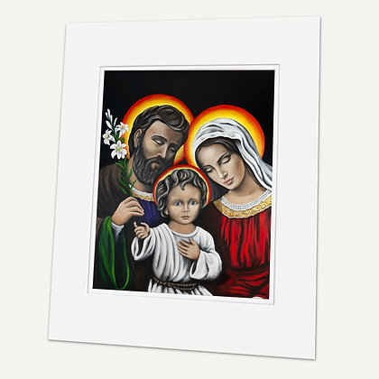 """""""Holy Family""""  Signed matted Giclée Print"""