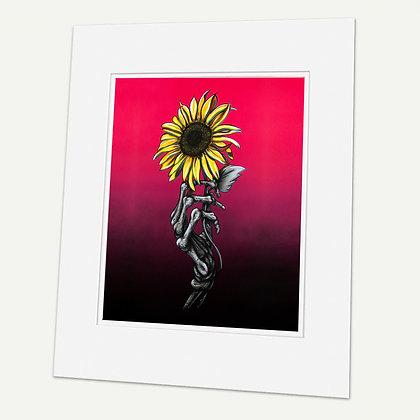 """Sunflower"" Signed matted Giclée Print"