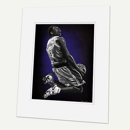 """Kobe""  Signed matted Giclée Print"