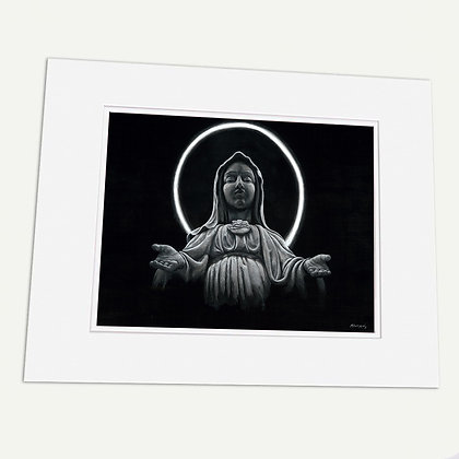 """""""Our Blessed Mother"""" Signed matted Giclée Print"""