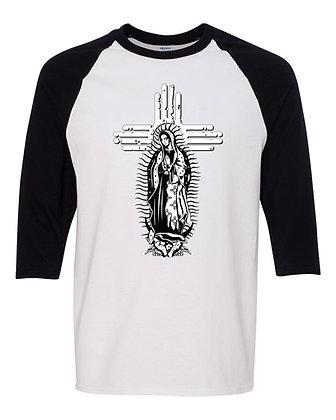 """Guadalupe Zia"" Raglan Three_Quarter T-Shirt"