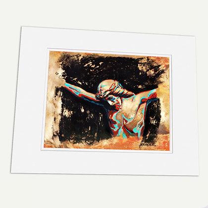"""""""Mi Salvación"""" Signed matted Giclée Print"""