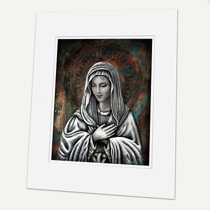 """Virgin of Extreme Humility"" Signed matted Giclée Print"