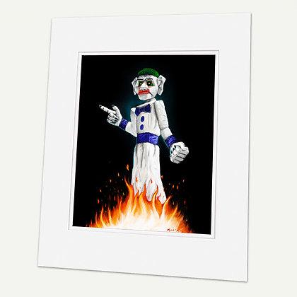 """Burn Him""  Signed matted Giclée Print"
