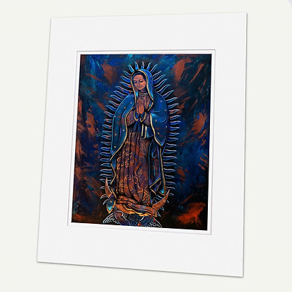 """Guadalupe"" Signed matted Giclée Print"