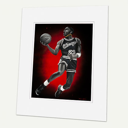 """""""G.O.A.T""""  Signed matted Giclée Print"""