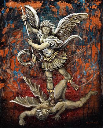 """Saint Michael"" Metal Print"
