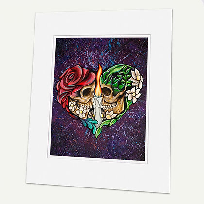 """""""One Love One Heart"""" Signed matted Giclée Print"""