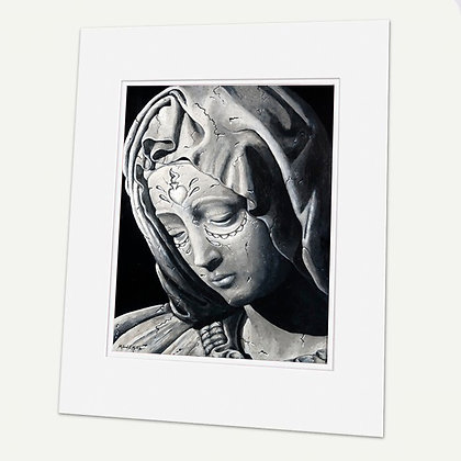 """""""Stone"""" Signed matted Giclée Print"""