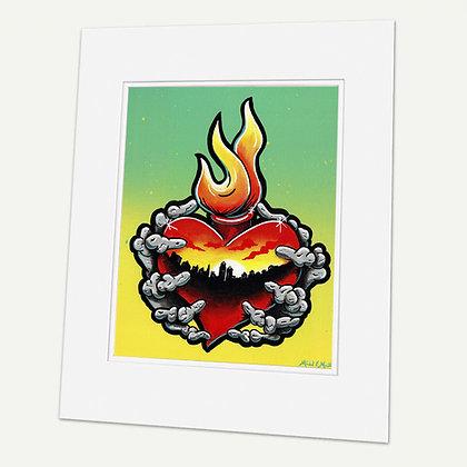"""Burque Love""  Signed matted Giclée Print"