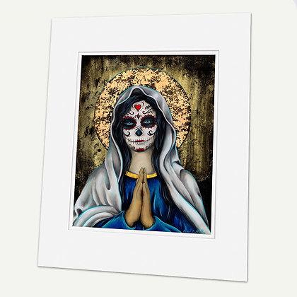 """Nuestra Señora de la Santa Muerte"" Signed matted Giclée Print"
