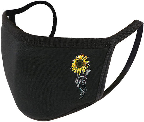"""Sunflower"" Adjustable Unisex Face Shield (Reusable Washable Cotton F"