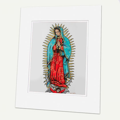 """Our Lady Of Guadalupe"" Signed matted Giclée Print"