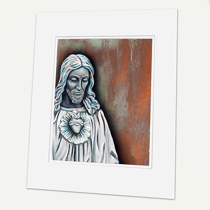 """Sacred Heart of Jesus"" Signed matted Giclée Print"