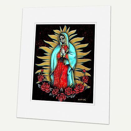 """Virgen Maria (dia de los muertos)"" Signed matted Giclée Print"
