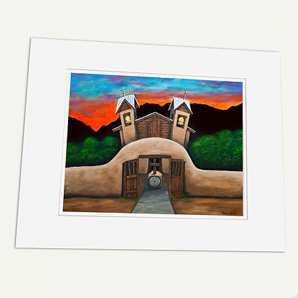 """Santuario De Chimayo"" Signed matted Giclée Print"