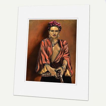 """Kahlo"" Signed matted Giclée Print"