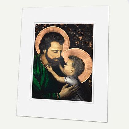 """Saint Joseph"" Signed matted Giclée Print"