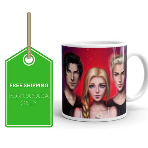 Dark Dreams White Glossy Mug 11oz CANADA SHIPPING