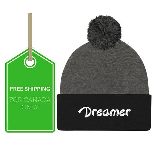 Dreamer Pom Pom Knit Cap CANADA SHIPPING