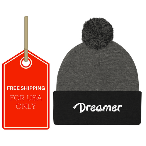Dreamer Pom Pom Knit Cap USA SHIPPING