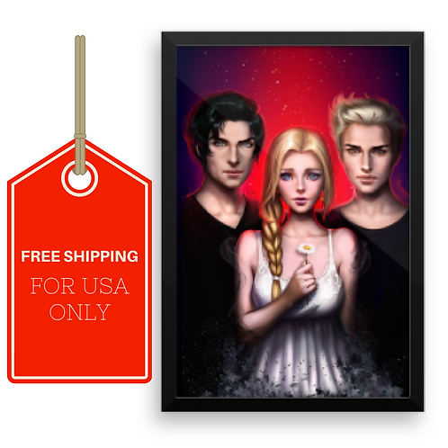 Dark Dreams Premium Luster Photo Paper Framed Poster 12X18 USA SHIPPING ONLY