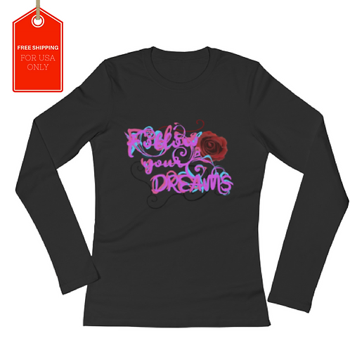 Follow your dreams Long Sleeve Jersey T-Shirt USA SHIPPING