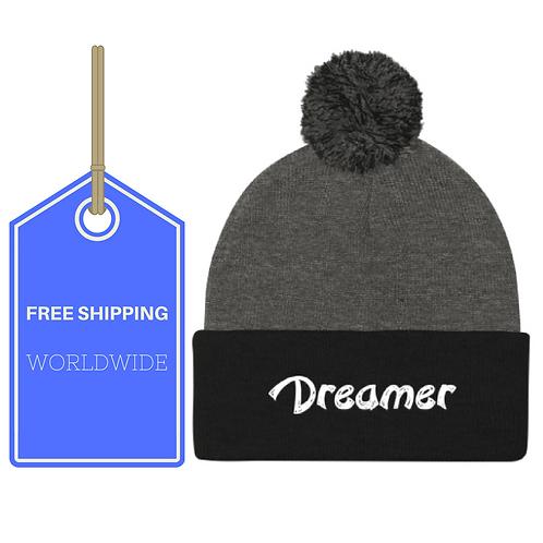 Dreamer Pom Pom Knit Cap WORLDWIDE SHIPPING
