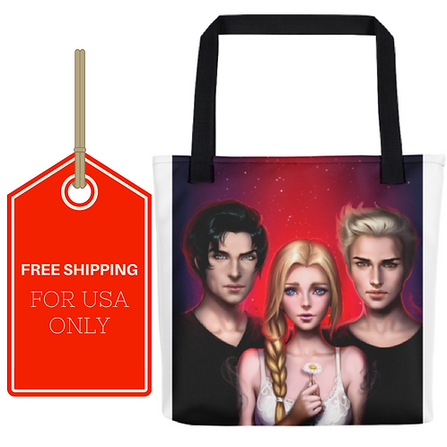Dark Dreams  All-Over Tote 15x15 USA SHIPPING