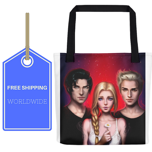 Dark Dreams All-Over Tote 15x15 WORLDWIDE SHIPPING