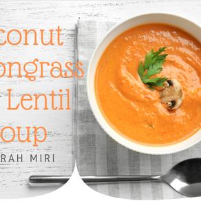 Coconut Lemongrass Red Lentil Soup
