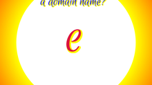 "What can an ""e"" prefix do to/for a domain name?"